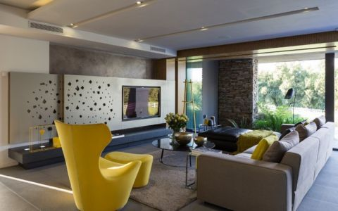 salon tv - House Blair Atholl par Nico van der Meulen Architects - Blair Atholl, Afrique du Sud