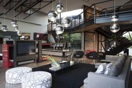salon tv - House Tsi par Nico van der Meulen Architects - Afrique du Sud