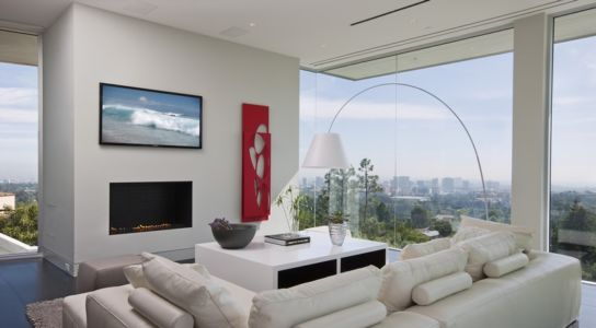 salon tv - Sarbonne par McClean Design - Los Angeles, Usa