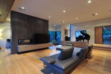 salon tv - Underwood House par StudioMET - Houston, Usa