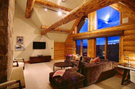 salon tv - chalet contemporain Thunderhead, Colorado, Usa