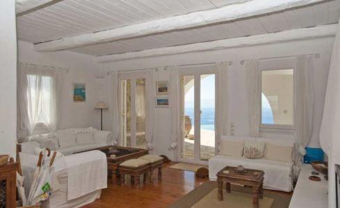 salon - villa-grecque - île Mykonos, Grèce
