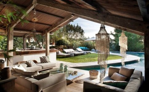 salon & vue façade jardin - Ibiza-House par TG-Studio - île-Ibiza, espagne