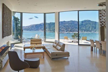 salon & vue mt tamalpais - maison exclusive par Polsky Perlstein Architectes - San Francisco, USA