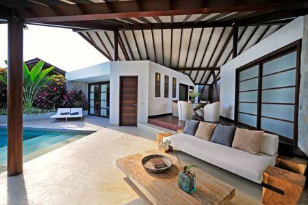 salon & vue piscine - Villas-Spa par Layar Designer - Bali, Indonesie