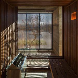 sauna - Ft house par Reinach Mendon Arquitetos - Bragança Paulista, Brésil