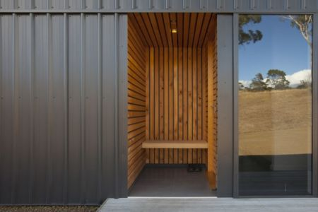 sauna - Valley House par Philip M Dingemanse - Launceston, Australie
