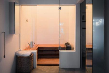 sauna - maison bois contemporaine par Gabriel Minguez - Ingarö, Suède