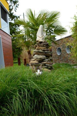 sculpture jardin - Barbo House par Ralph Büeler (Bend Group) - Genève, Suisse