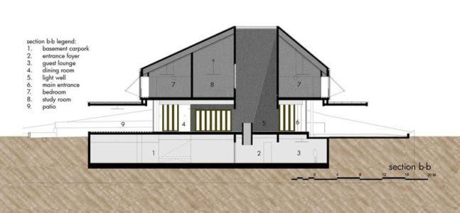 second plan section 2D - Victoria-Park par Ipli Architects - Singapour