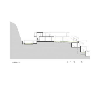 site section 3 - House-Hillside par Benavides & Watmough arquitectos - Santiago, Pérou