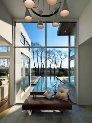 sofa - Fieldview house par Blaze Makoid Architecture - East Hampton, Usa