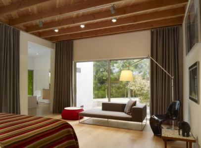sofa chambre - Norwich Residence par Clive Wilkinson Architects - West Holywod, Usa