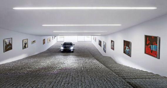 sol en pavé garage - Autofamily House - Robert Konieczny-KWK Promes - Pologne