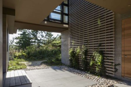 sous arche - House of Shifting Sands par Ruhl Walker Architects - Wellfleet, Usa