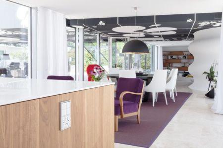 système domotique cuisine - villa-am-bodensee par jung - lac constance, Suisse