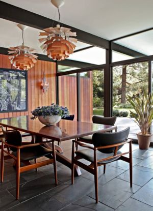 table séjour - La Cañada Residence par Jamie Bush & Co. - Sierra Madre, Usa