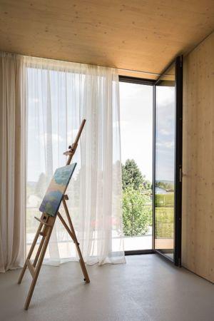 tableau sur chevalet & baie vitrée - Lake-House par Maximilien Eisenkock Neufelder, Autriche