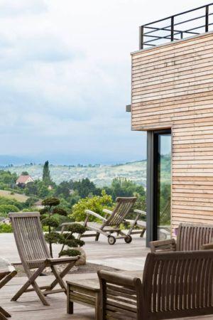terasse salon design - House-in-Lyon par Damien Carreres - Lyon, France