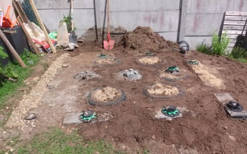 terrain plancher nivelé - bureau jardin bioclimatique