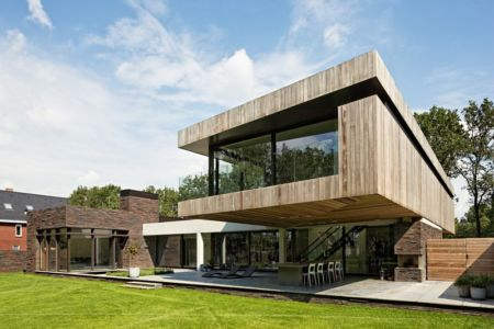 terrasse - 102 Heesch par Hilberink Bosch Architecten - Bosvilla, Pays-Bas