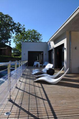 terrasse - Apple-House par Val de Saône Bâtiment - Mâcon, France