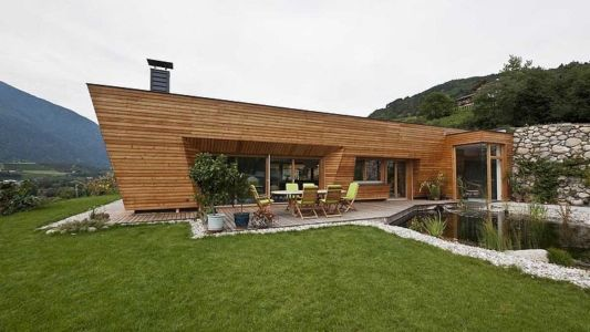 terrasse - Brunner House par Norbert Dalsass - Italie