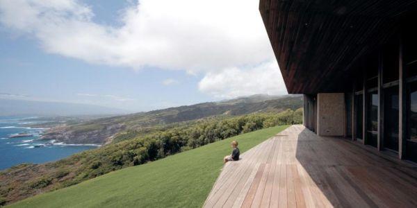 terrasse - Clifftop House Maui par Dekleva Gregoric Arhitekti - Maui, Hawaï