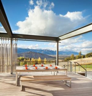 terrasse - Contemporary Western par Hoyt Architects & CTA Group - Usa