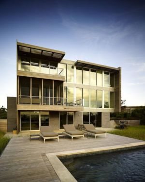 terrasse - Cove Residence par Stelle Lomont Rouhani Architects - Hamptons, Usa