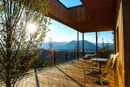 terrasse - Deluxe Mountain Chalets par Viereck Architects - Styria, Autriche