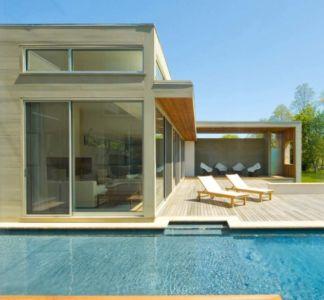 terrasse - Fieldview house par Blaze Makoid Architecture - East Hampton, Usa