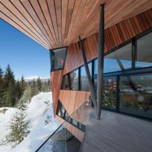 terrasse - Hadaway house par Patkau architects - Whistler valley, Canada