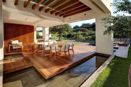 terrasse - House-S par Lassala Elenes Arquitectos - Zapopan, Mexique