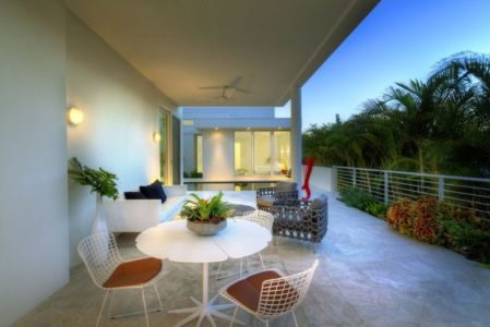 terrasse - Light Box House par Jonathan Parks Architect - Lido Shores, Sarasota, Usa