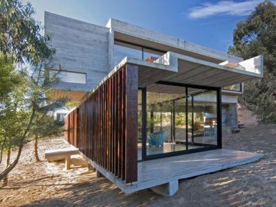 terrasse - MR House par Luciano Kruk Arquitectos - La Esmeralda, Argentine