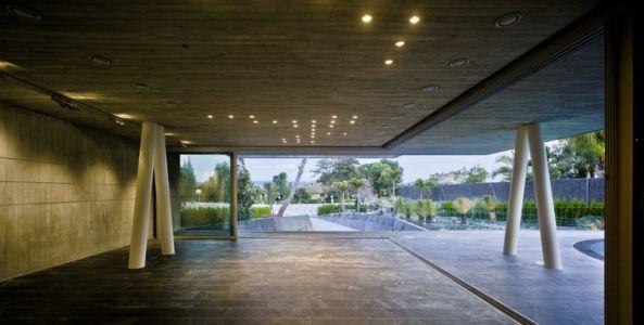 terrasse - Maison 4 en 1 par Clavel Arquitectos - Guadalupe, Espagne - photo David Frutos
