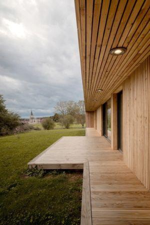 terrasse - Maison Simon par Bonnefous architectes - Vezet (70), France
