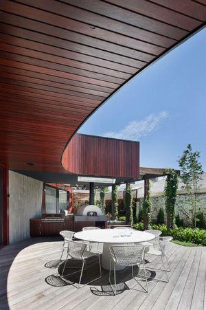 terrasse - Maison contemporaine bois béton par BG Architecture - Melbourne, Australie