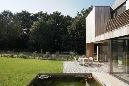terrasse - Maisons bois contemporaines par Zamel Krug Architekten - Hagen, Allemagne