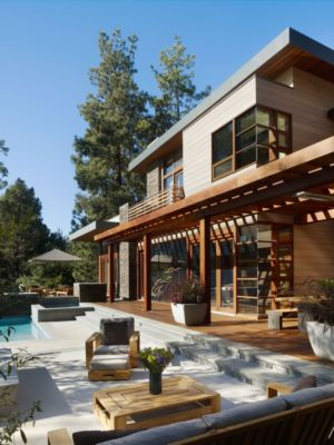 terrasse - Mandeville Canyon Residence par Rockefeller Partners Architects - Los Angeles, Usa - photo Eric Staudenmaier