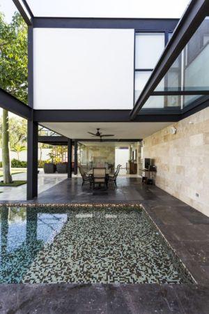 terrasse - Montebello 321 par Jorge Bolio Arquitectura - Merida, Mexique