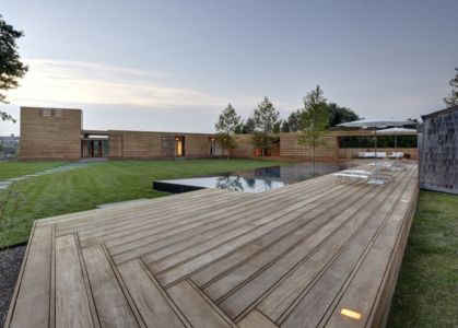 terrasse - Mothersill par Bates Masi Architects - Water Mill, Usa
