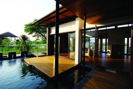 terrasse - Nature House par JUNSEKINO Architect - Changwattana, Bangkok, Thaïlande