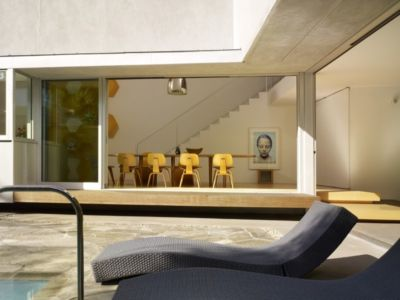 terrasse - Norwich Residence par Clive Wilkinson Architects - West Holywod, Usa