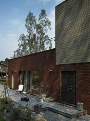 terrasse - PlayHouse par  Street Monkey Architects + Bjerking - Värmdö, Suède