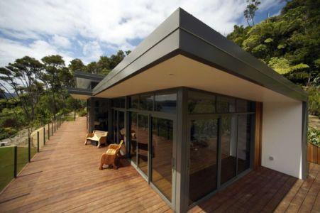 terrasse - Porotu Bach par studio MWA - Miritu Bay, New Zealand