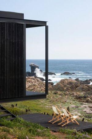 terrasse et panorama - Remote-House par Felipe Assadi - Pichicuy, Chili
