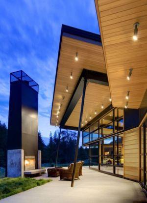 terrasse - River Bank house par Balance Associates Architects - Big Sky, Montana, Usa