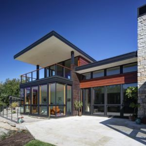 terrasse - Rock River House par Bruns Architecture - Rockton, Usa